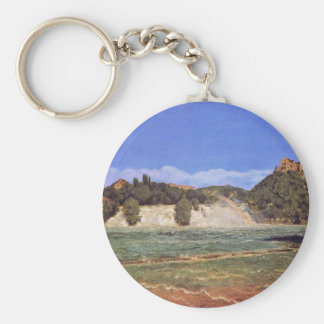 Rhine Falls At Schaffhausen By Thoma Hans Key Chain