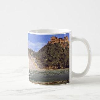 Rhine Falls At Schaffhausen By Thoma Hans Basic White Mug