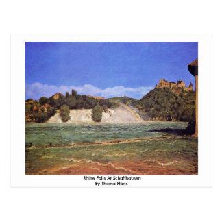 Rhine Falls At Schaffhausen By Thoma Hans Postcard
