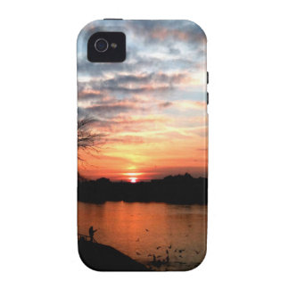 Rhine river Germany Sunset and bird feeding. iPhone 4/4S Cover