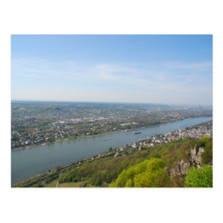 Rhine River valley by Bonn, Germany Postcard