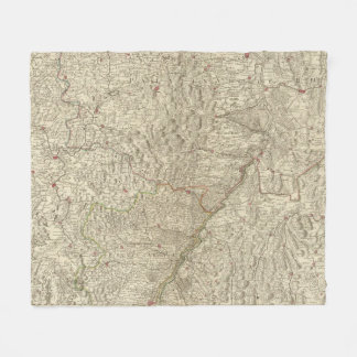 Rhine River Valley, France 2 Fleece Blanket