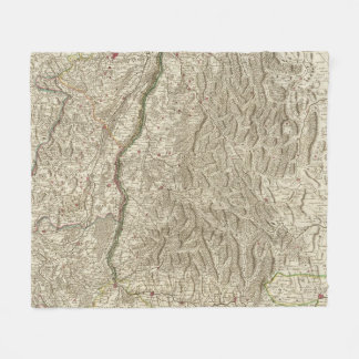 Rhine River Valley, France Fleece Blanket