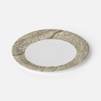 Rhine River Valley, France Paper Plate