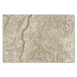 Rhine River Valley, France Tissue Paper