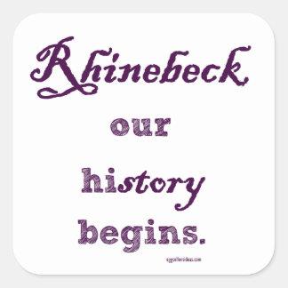 Rhinebeck, my history starts here. square sticker