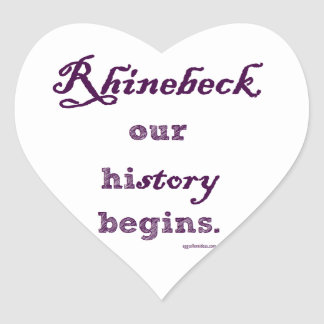 Rhinebeck our history begins... stickers