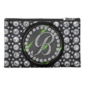 rhinestone b travel accessories bag