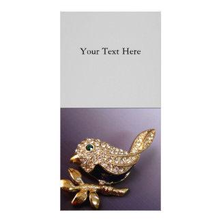Rhinestone Bird Photo Cards