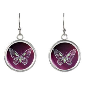Rhinestone Butterfly Earrings - Diamond Butterflys