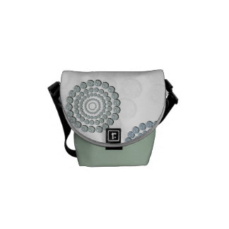 Rhinestone Circle Messenger Bag