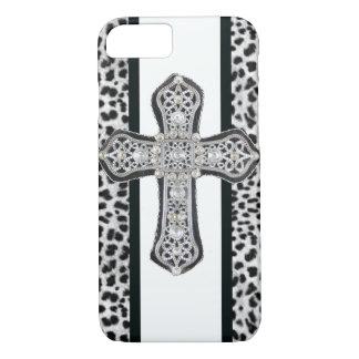 Rhinestone crusted Cross iPhone 7 case