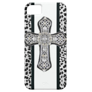 Rhinestone crusted Cross Iphone Case