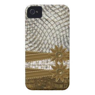 rhinestone glitter jewels & Flower Iphone4 Case iPhone 4 Case