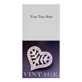 Rhinestone Heart Photo Cards