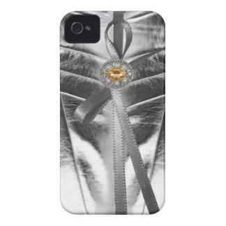 Rhinestone jewels Metallic Leather Iphone4 Case iPhone 4 Cover