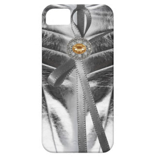 Rhinestone jewels Metallic Leather Iphone4 Case iPhone 5 Case