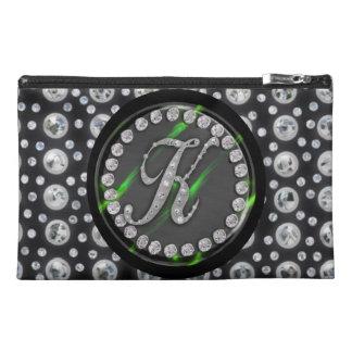 "rhinestone ""k"" travel accessories bags"