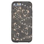 Rhinestone Studded tooled Leather iPhone 6 Case