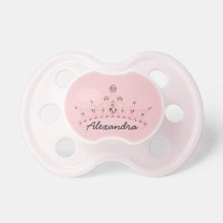Rhinestone Tiara Graphic Baby Pacifier (baby pink)