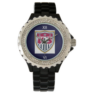 Rhinestone USA Soccer Watch
