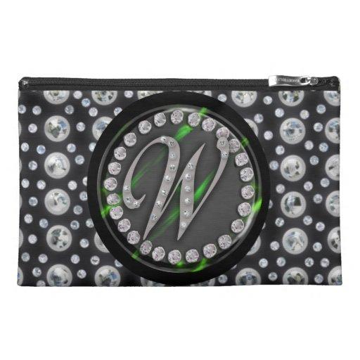 "rhinestone ""w"" travel accessories bags"