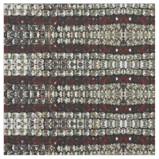 Rhinestones - red and clear fabric