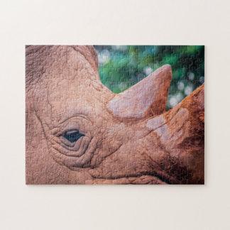 Rhino 01 Digital Art - Puzzle