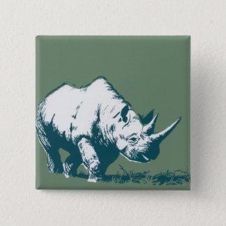 Rhino 15 Cm Square Badge