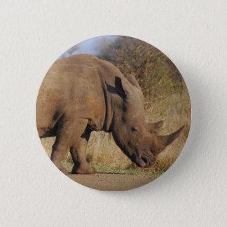 Rhino 6 Cm Round Badge