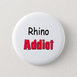 Rhino Addict 6 Cm Round Badge