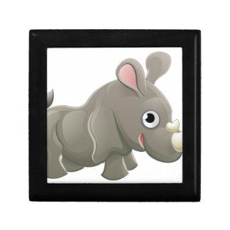 Rhino Animal Cartoon Character Small Square Gift Box
