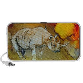 Rhino At Sunset Laptop Speaker