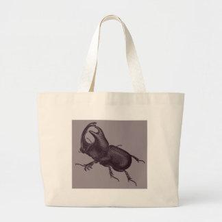 Rhino Beetle, Scarabeus Chorinaeus Tote Bags
