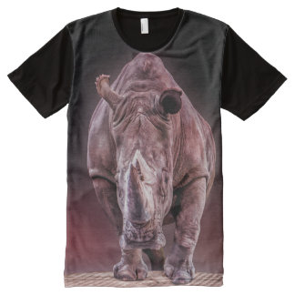 rhino big and powerful all over print tshirt All-Over print T-Shirt