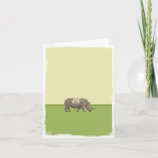 Rhino blank greeting card