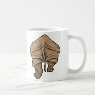rhino butt coffee mug
