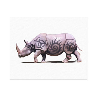 Rhino Stretched Canvas Prints