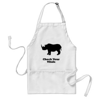 Rhino check your vitals standard apron