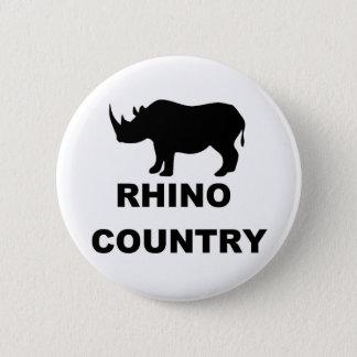 Rhino Country 6 Cm Round Badge