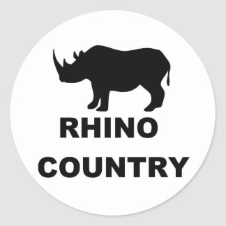 Rhino Country Classic Round Sticker