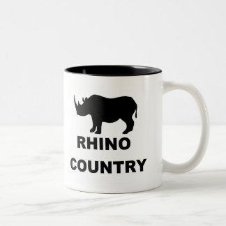 Rhino Country Two-Tone Coffee Mug