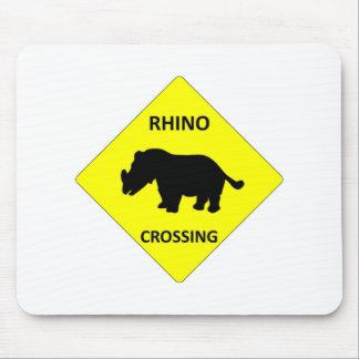 Rhino Crossing Mouse Mat