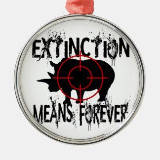 Rhino Extinction1 Christmas Ornament