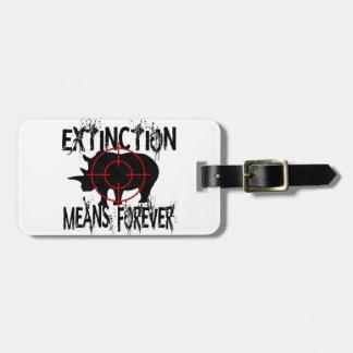 Rhino Extinction1 Luggage Tag