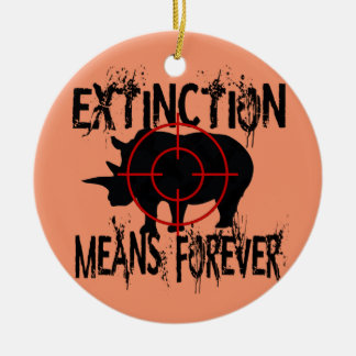 Rhino Extinction1 Round Ceramic Decoration