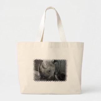 Rhino Facts Canvas Bag