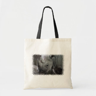 Rhino Facts Small Canvas Bag