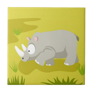 Rhino from my world animals serie tile