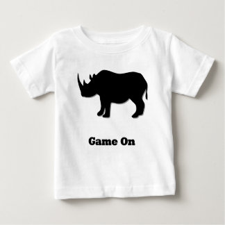Rhino Game On black Baby T-Shirt